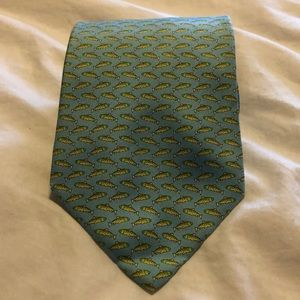 Brooks Brothers Silk Blue Fish Tie